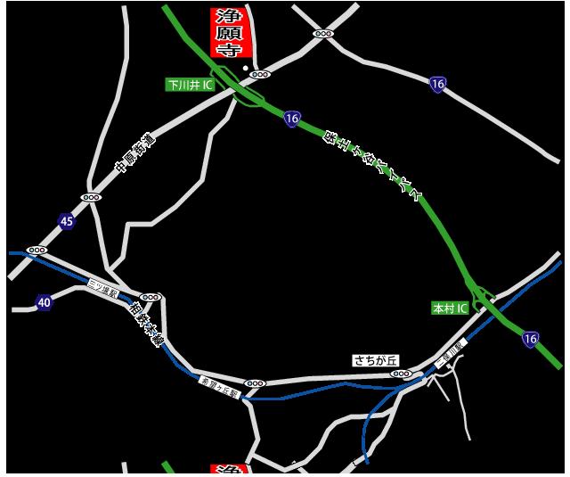 浄願寺アクセス地図